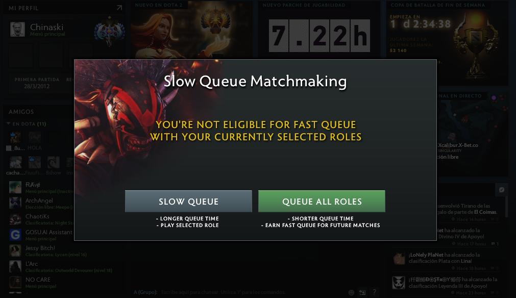 Slow Queue Fast Queue Dota 2